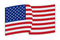 Waving Flag Magnet - USA United States of America - Red White Blue - Large Size!