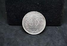 MEXICO 1907 STRAIGHT 7 SILVER 50 CENTAVOS XF #234