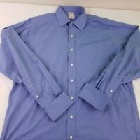 Brooks Brothers Men's Light Blue French Cuff Non-Iron Dress Shirt 16 1/2 - 37