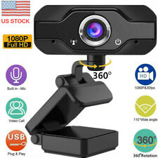 HD 1080P USB Webcam Camera with Microphone for PC/Mac Laptop/Desktop Video Call
