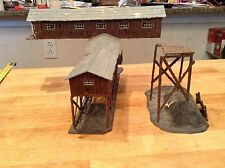 ho scale built building ahm old Coal MINE company  factory industrial walkway