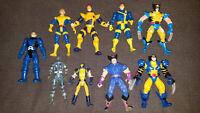 9 Vintage 1990's Marvel Toy Biz Figures X-Men Wolverine Apocalypse Cyclopse