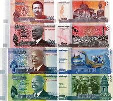 CAMBOGIA - Cambodia Lotto 4 banconote 100/500/1000/2000 riels FDS - UNC