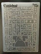 Cuttlebug Embossing folder - Snowman VGC Cards, crafts