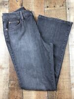 Eddie Bauer Natural Fit Boot Cut Women's Gray Jeans, Size 8R 30x31