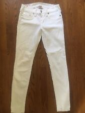 True Religion Women's CASEY Stretch Skinny White Jeans Sz 28 X 30 (SS#1726)