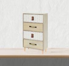 Mini Kommode aus Holz mit 4 Schubladen Schubladenschrank Shabby Used Landhaus