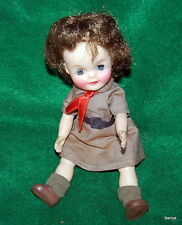 "GIRL SCOUT 1965 EFFANBEE 8"" GIRL SCOUT BROWNIE DOLL - MISSING HAT"
