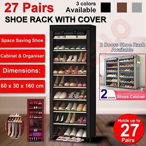 Shoe Rack Stackable Cabinet Storage Organiser Portable Wardrobe