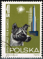 Poland Soviet Laika the Dog in Space stamp 1969