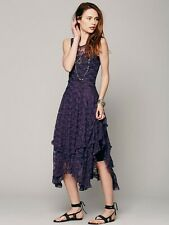 New  $98 Free People French Courtship Lace Dress Purple/Plum XS
