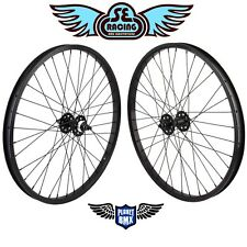 "SE Racing 24"" x 1.75"" BMX sealed bearing WHEELSET pk ripper quadangle BLACK new"