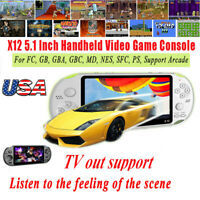 """5.1"""" X12 Retro Classic Portable Game Console Handheld 800 Built-in Games Gift"""