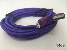 Strong Braided iPhone iPad USB Data Sync Charger Cable Lead Purple 3M