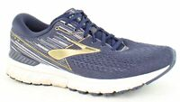 Brooks Mens Adrenaline Gts 19 Navy/Gold/Grey Running Shoes Size 12.5 (2E)
