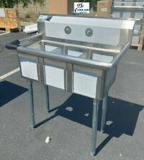 New 35 Stainless Steel Sink 3 Compartment Commercial Kitchen Bar Restaurant Nsf