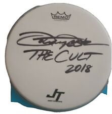 JOHN TEMPESTA HAND SIGNED 2018 THE CULT DRUMHEAD WITH TICKET