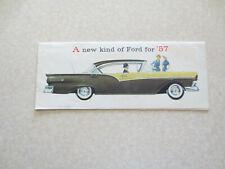 Original 1957 Ford promotional booklet for Fairlane & Custom car & station wagon
