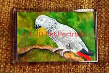 African Grey Parrot Gift Art Fridge Magnet 77x51mm Birthday Gift Stocking Filler