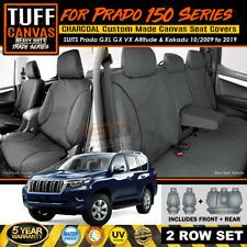 TUFF HD TRADE Canvas Seat Covers 2Row Set for Prado 150 GXL VX Kakadu 10/2009-20