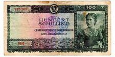 Autriche  AUSTRIA Billet 100 Schilling 1947  P124 BON ETAT