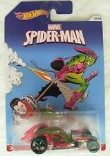 NEW HOT WHEELS SPIDERMAN GREEN GOBLIN ICANDY DRAGSTER 04/08 MOC Marvel.com #1