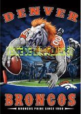 USA - Football américain  - Broncos Denver  - affiche plastifiée