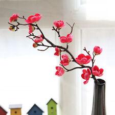 Artificial Bouquet Silk Fake Flower Plum Blossom Wedding Party Home Garden Decor