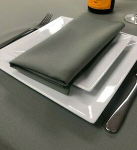 Plain Fabric Material Napkins serviettes 100% polyester machine washable