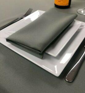 Plain Fabric Material Napkins serviettes 100% polyester machine washable