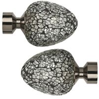 Pair Of 28mm Mosaic Glass Jadon Curtain Finial (Set of 2) by World Menagerie