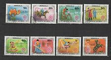 arts et sports Mongols  Mongolie 1981 série de 8 timbres / T1735