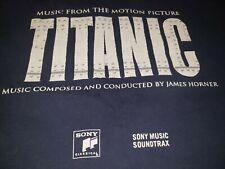 Vtg TITANIC sony music Movie soundtrax 90s James horner t shirt