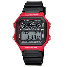 Casio AE1300WH-4A Men's World Time Alarm Chrono Referee Countdown Timer Watch
