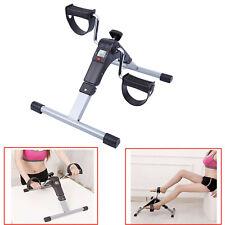 Foldable Pedal Exercise Machine Cycle Fitness Digital Leg Arm Exerciser Bike