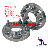 2PCS For Ford Fairlane ZH To BA BF FG Falcon Rear Wheel Spacers 35mm