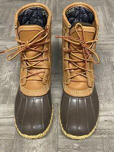 $209 Ll Bean Boots Tan Duck Boots 3M gortex Lining Sz 6 M 212081