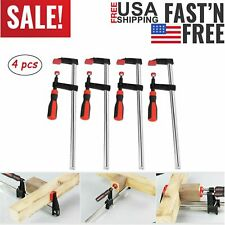 4Pcs 50*300MM F Clamps Woodworking Bar Clips Quick Slide Hand Kit Tools