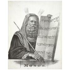 Moses Deco FRIDGE MAGNET, 1874 Ten Commandments Religious Mini Gift Refrigerator