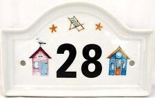 Cabanes De Plage Numéro De Porte De Maison Plaque Porcelaine Plaque