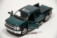 "5"" Kinsmart 2014 Chevrolet Silverado Truck Diecast Model Toy 1:46 Chevy - GREEN"