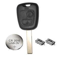 Se adapta a Citroen C1 y C3 2 Botón Remoto Clave Estuche/Shell Reformar Kit