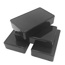VNDEFUL 5Pcs Black Waterproof Plastic Electric Project Case Junction Box 3.94 x