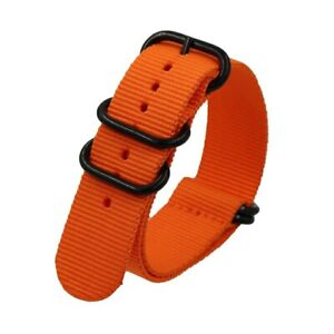 Sport Nylon Watch Band 18mm 20mm 22mm 24mm 5-Rings Canvas Strap Fabric Watchband