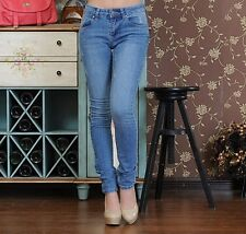 Women's Super Skinny Fit Tapered Low Rise Jeans Size UK W 28