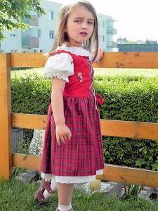 Kinder Dirndl Trachten SET 2 Teilig in verschiedene Größen / Kleid