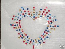 HOTFIX / IRON ON:Multi-colour Shining Heart MOTIF