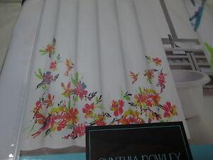NEW Cynthia Rowley WATERCOLOR HUMMINGBIRD Fabric Shower Curtain  ~ Multi Colors