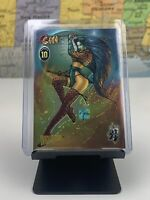 SHIPS SAME DAY SHI 1996 WIZARD CHROMIUM PROMO Foil Holo CARD # 10 Played