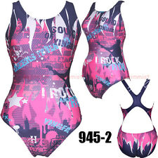 [NWT] YINGFA 945-2 COMPETITION TRAINING RACING SWIMSUIT M US GIRLS 12-14 MISS 4!